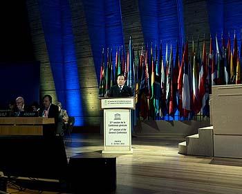 Discours de Monsieur Hao Ping, Président de la 37e session de la Conférence générale