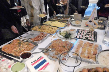 Cuisine thaïlandaise, coréenne et iranienne