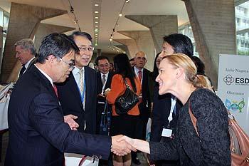 Le Gouverneur de la préfecture d'Aichi, M. Ohmura, et dles invités.