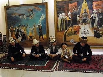 la trilogie épique kirghize de Manas, Semetey et Seitek