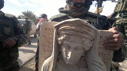Confiscated statue from the site of Palmyra