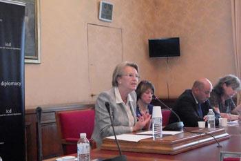 Madame Michèle Alliot Marie, ancienne ministre des Affaires étrangères de la République française